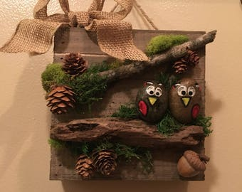 Two Birds Rustic Wall Decor