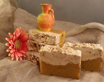 Calendula Handmade Natural soap. Calendula Hot Process Soap.