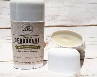 Handmade Sensitive Deodorant Stick All Natural Baking Soda Free Chemical Free