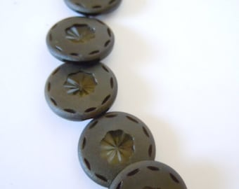 Vintage Buttons Deep Green Sewing Supply