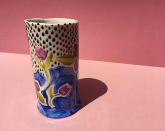 Hand Painted Porcelain Pot