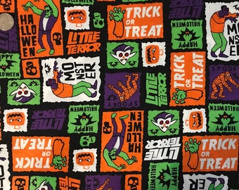 Franky Trick or Treat Halloween  Fabric Sold By The Half Yard