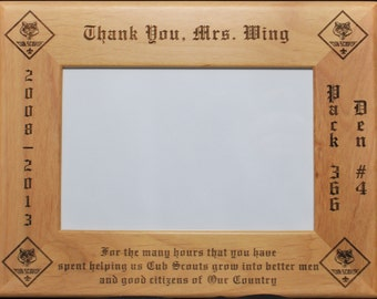 Cub Scout Boy Scout Thank You Picture Frame Holds a 4 x 6 Picture