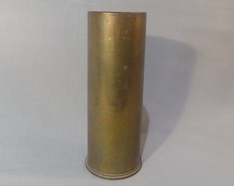 Trench Art Artillery Shell British WW1 1915 Brass Vase Pot Spill Vase Saved by a by Soldier Artillery Shell World War One Militaria