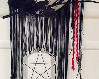 Gothic pentogram dream catcher
