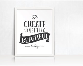 Create Something Art Printable // Digital Download // Print Picture // Wisdom // Craft Room Office Bedroom Decor // 8x10 Instant Download