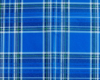 Set of 3 sheets of paper Decopatch Scottish style fabric blue