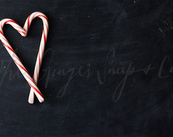 Styled Stock Photography   Candy Cane Heart   Christmas Stock Photography   Holiday Stock Photography   Digital Image
