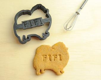 Pomeranian Cookie Cutter Custom Treat Personalized Pet