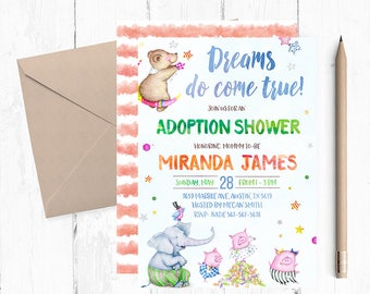 Adoption shower invitations, Adoption Shower Invitation, Adoption Shower Invites, Adoption Shower Invite, Adoption announcement, printable,