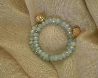 Memory wire bracelet, handmade bracelet, bracelet, glass crystal , gold, charms, for women, gift for her, present for her