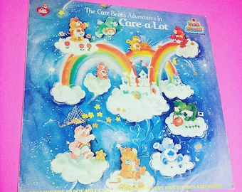THE CARE BEARS: Adventures In Care-A-Lot - vinyl record album kids tv show cartoon music sing along vintage classic '80s 80s eighties kid