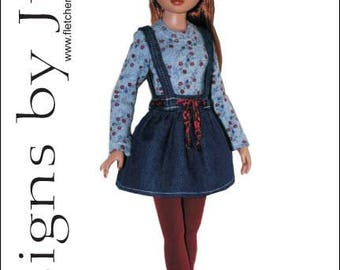 "PDF Beat Nic Clothing Pattern for 16"" Ellowyne Dolls Tonner"
