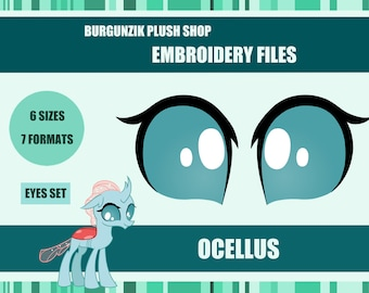 Embroidery Design Files - Ocellus Eyes - 7 formats