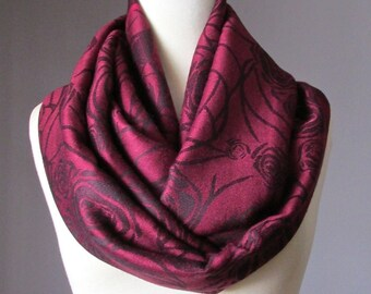 Fast shipping, Dark Cherry scarf, rose infinity scarf, pashmina infinity scarf, pashmina scarf