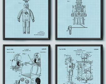 INSTANT DOWNLOAD  Toy Robot Patent, Toy Robot Poster, Toy Robot Print, Toy Robot Decor, Toy Robot Art, Toy Robot, Toy Robot Wall Art