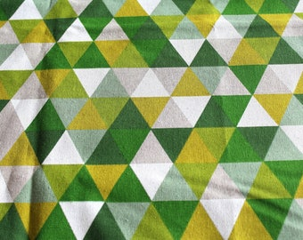 Coupon fabric upholstery green graph 70 x 50 cm