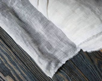 """Sheer white linen fabric by the meter, white linen for curtains, linen curtain fabric, light linen by the yard, 140cm 54"""" linen"""