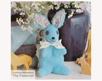 PDF Sewing Pattern for Baby Bunny - Classic Toy Rabbit Pattern - Stuffed Animal Sewing Pattern -  PDF Download SKU 101-2