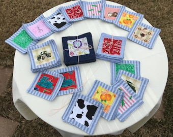 Upcycled Fabric Matching Game
