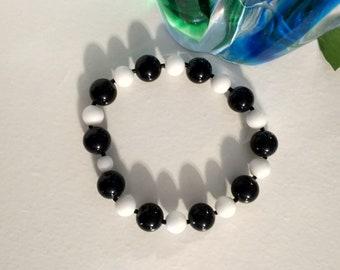 Classic Black & White Bracelet