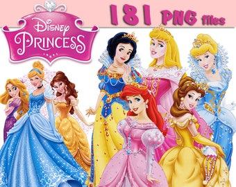 181 Disney Princess Clip art 300dpi png images -INSTANT DOWNLOAD FOR cards, scrapbooking,digital art, printing,