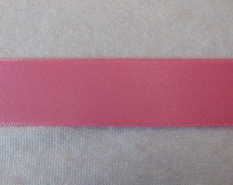 Pink satin ribbon, candy, width 25 mm (S-208)