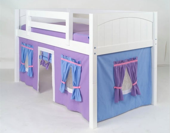 low loft bunk bed curtain free shipping. Black Bedroom Furniture Sets. Home Design Ideas