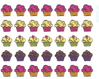Cupcake Stickers || Planner Stickers