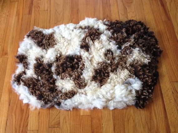 Felted Pet Bed with Natural Sheep Fleece