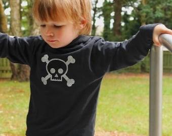 Skull & Crossbones Baby - Toddler Hoodie / Alternative Kids Clothes Boys or Girls