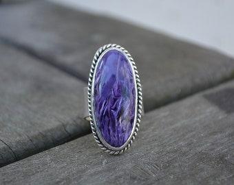 Chariote Ring, Chariote, Purple Gemstone Ring, Statement Ring, Chariote Gemstone Ring, Chariote gemstone, Purple Gemstone, Purple, Sterling
