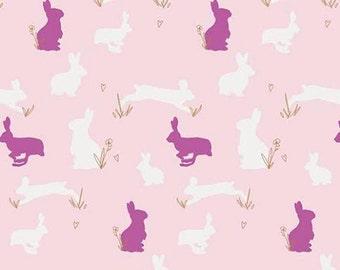 Bunny Binkies Fluff Metallic from Anna Elise designed by Bari J for Art Gallery Fabrics - Premium Quilting Cotton Fabric - One Yard