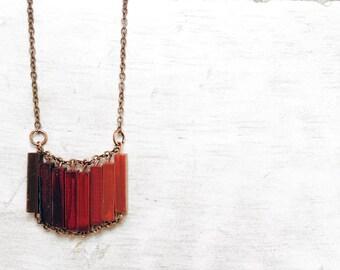 Halskette Red / / Valentin / / moderner Schmuck / / Red Hand-Painted Halskette / / Minimal Halskette / / moderne Halskette / / Love / / Vaentines Tag
