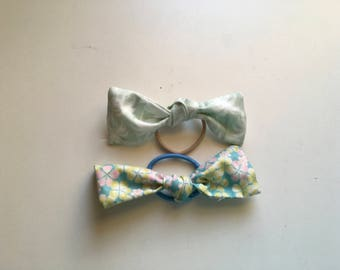 Palm tree hair bow duo (set of two)