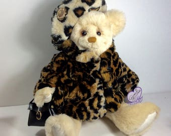 Annette Funicello Bear Company Tiger Print bear excellent. Free ship to US