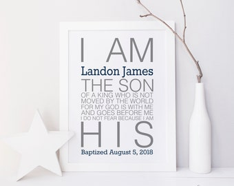 Personalized Baptism Printable. Baby Boy Baptism Gift. Boy Christening Gift. Personalized Baby Boy Gift. Baby Boy Dedication Gift. Baptism