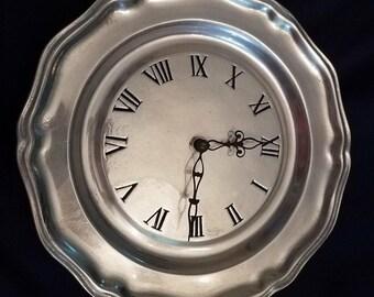 Armetale(R) Pewter Plate Clock