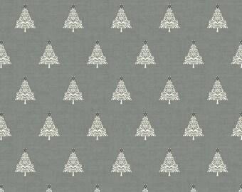 Scandinavian grey fabric with Christmas trees - cut Fat quarters Noël Scandinavian - Makower 100% - modern patchwork cotton fabric