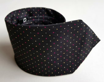 Vintage necktie - mens tie - pure silk tie - Christian Dior - necktie - mens vintage tie - designer tie - Dior tie - dotted tie - tie -