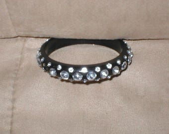 Vintage Bakelite Rhinestone Bracelet