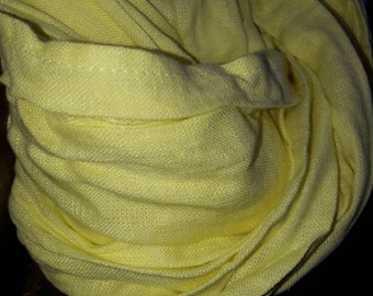 """Yellow 100 percent natural #Linen Scarf """"Sunny"""""""