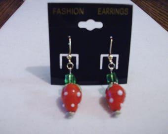 Strawberry Earrings.