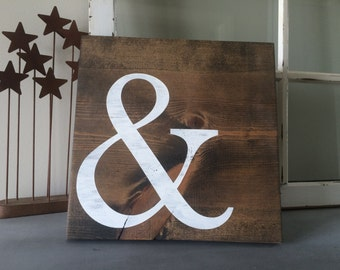 Ampersand Wooden Sign - And Symbol Sign
