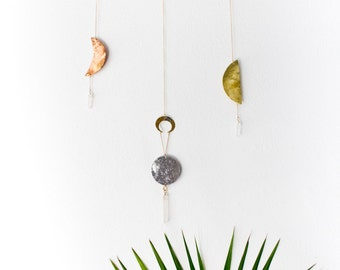 Brass Wall Hanging | Moon Phases Wall Art | Sweet Dreams