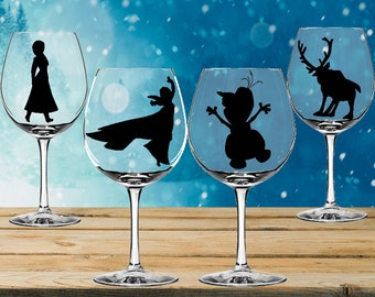 Frozen Inspired Wine Glass Set