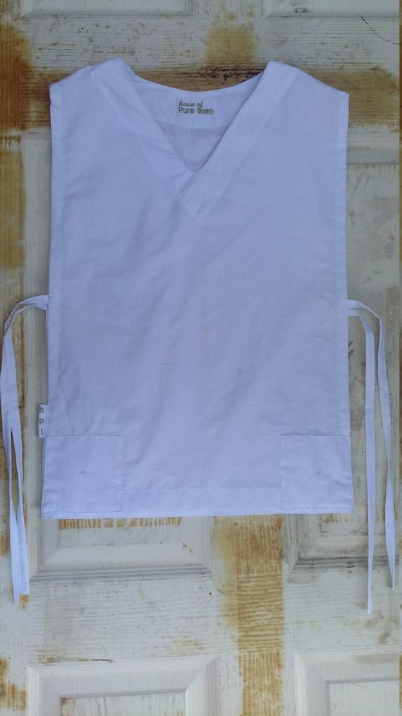 White Linen Shirt / Casual Short Sleeve Shirt / Beachwear / Men's Shirt / Customized Men Shirts / Hebrew Shirt / Hebrew Israelite Clothing tTaF2at