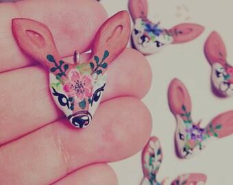 Whimsical baby deer pendant