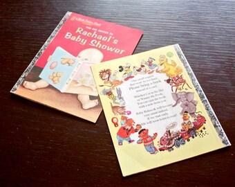 Baby Shower Invitation- Little Golden Book Inspired