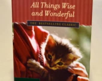 Book - James Herriot – All Things Wise and Wonderful, story books, vintage books, animal books